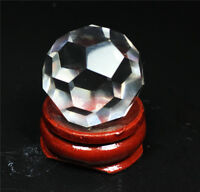 Natural Faceted Rock Crystal Clear Quartz  Sphere Ball Healing Gemstone