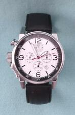 pre-owned INVICTA I FORCE 20130 Mens Lefty Silver Chronograph Watch Leather Band