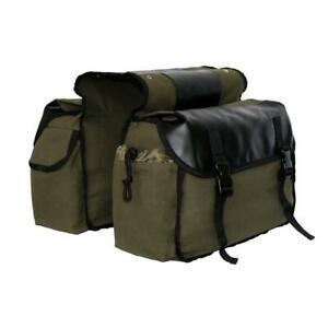 Motorbike Saddle Bag Motorcycle Canvas Waterproof Panniers Box Side Tools Bag