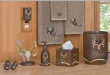 Bone Collector 16pc Complete Bath Accessory Set Michael Waddell Resin Deer Skull