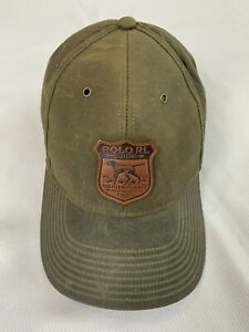 Polo Ralph Lauren Oil Cloth Pointer Dog Hat Country Outdoors RL Guide Rare