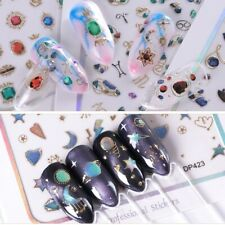 3D Letters Love Butterfly Flower Nail Art Jewel Design Sticker Manicure at home