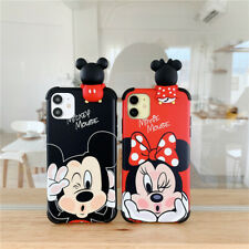 For iPhone 12 11 Pro Max XS XR 7 8+ Disney cartoon Minnie Mickey doll phone Case