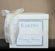 Kartenbox Briefbox creme Deko creme Hochzeit 30 x 30 x 30 cm individualisierbar!