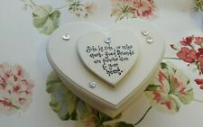 Wooden Heart Decorative Boxes, Jars & Tins with Lid