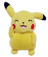 Pokemon Plüschfigur Pikachu lächelnd 22 cm Gelb für Kinder, Kuscheltier, NEUWARE