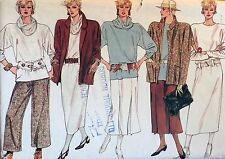 NEW VINTAGE 1980 VOGUE LOOSE 'OSKA' LOOK TUNIC DRESS  SEWING PATTERN 9144 SIZE10