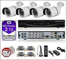 8CH 2MP 1080P 5in1 DVR 2MP AHD CCTV Security Camera System Bullet Kit 2TB WD HDD