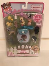 Puppy In My Pocket Pouch Set. New!! 14 Pieces. Really cute!