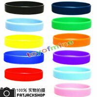 2Pcs Sport Fashion Colorful Silicone Rubber Bracelet Rubber Bangle Wristband