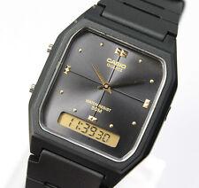 Casio Black Resin Digital Analog Dual Time Men's Kid's Quartz Watch AW-48HE-1A