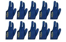 Lot of 10 Champion Sport Dark Blue Left Handed Billiards Gloves