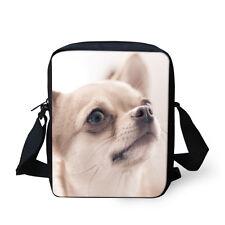 Cute Chihuahua Shoulder Bag Outdoor Messenger Bags Kid Cross-body Purse Satchel