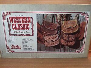 Vintage Tandy Leather Handbag Purse Kit Complete #4380 Western Classic Kit
