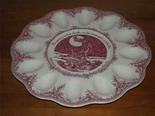 """Noble Excellence Twas The Night  Christmas 12"""" EGG PLATE Santa & Sleigh NEW"""