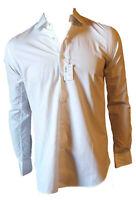 Camicia Elegante Classica Cotone Uomo Bianco Collo Piccolo MAN SINCE 1924 Tg 38