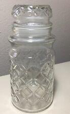"Vintage Planter's Mr. Peanut Diamond Quilted Glass Jar 7.75"""