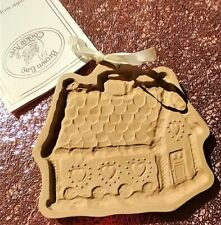 Vintage BROWN BAG COOKIE ART Mold Gingerbread House1985 NEW Holiday Christmas