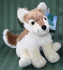 "Fiesta WOLF 9.5"" Tall Sitting Floppy Bean Plush Wolf Wildlife Stuffed Animal NEW"