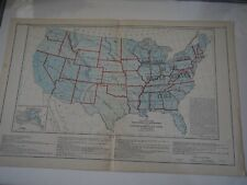 """Antique Map """"Map Showing the Acquisition of Territory and its Distribution....."""