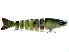 "5"" Life-like Swimbait 8 Section Multi Jointed Crankbait Muskie Pike Striper Bass"
