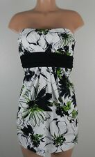 Speechless Juniors Strapless Party/Dance Dress-White/Green/Black/Floral-Size 7