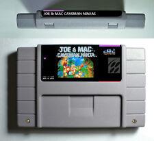 Joe And Mac Caveman Ninjas Super Nintendo SNES 16 Bit NTSC Cartridge US Version