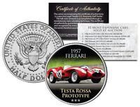 1957 FERRARI TESTA ROSSA PROTOTYPE *Expensive Auction Car* JFK Half Dollar Coin