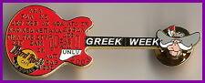 """Hard Rock Cafe LAS VEGAS 2003 GREEK WEEK Guitar PIN UNLV Mascot """"Rebel"""" #17748"""