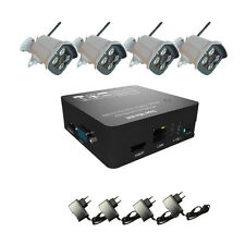 4CH 720P Wireless WIFI IP Camera Security System 8CH NVR KIT Outdoor NightVision