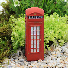 Traditional Red Telephone Box ~ Fairy Garden Accessory ~ Miniature Fairy Garden