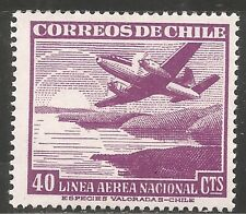 Chile Air Post Stamp - Scott #C135/AP36 20c Yellow Brown OG Mint/LH 1954