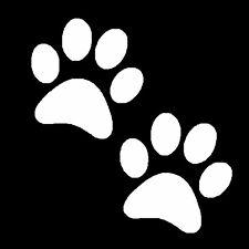 Dog Cat Animal Paw Print car window Stickers 72mm (2 stickers)