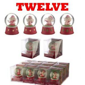 12 Christmas Fairy Waterball Snow Globe Decoration WHOLESALE JOB LOT CLEARANCE