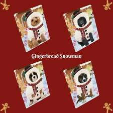 Christmas Gingerbread Snowman Dog Cat Pet Photo Lovers Sherpa Fleece Blanket