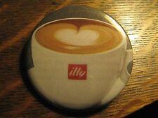 Illy Espresso Coffee Cappuccino Cup Logo Advertisement Pocket Lipstick Mirror