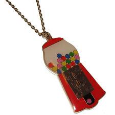 Kitsch Gumball Machine Necklace Sweets Fun Kawaii Vintage Retro Ennammel