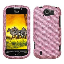 Pink Crystal BLING Hard Case Phone Cover for T-Mobile HTC myTouch 4G Slide