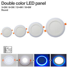 LED Panel Lamp AC85-265V 3-18W Round Recessed Dual Color Ceiling Down Spot Light