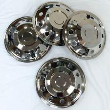 """Universal 16"""" Stainless Steel Wheel Trims+Valve extenders+skull dust caps *NEW*"""