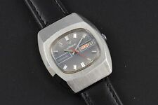 Men Retro Vintage Wittnauer Running 17J Automatic Day Date Wrist Watch Stainless