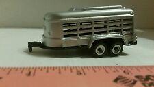 1/64 ERTL farm toy custom silver bumper pull short trailer pigs calf sheep goat