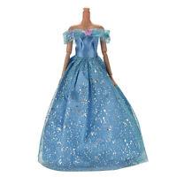 Großes schönes dunkelblaues Kleid mit Schmetterlingsdekoration Puppe für Barbie~