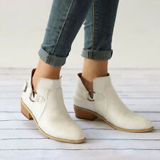 1208c276438 Womens Ladies Leather Ankle Boots Flats Casual Sandals Beach Low Heel Shoes  Size