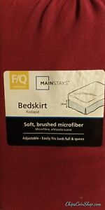 Brand New - Mainstays Bedskirt Soft brushed microfiber -Red Sedona  (size: F/Q)