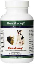 Dog Cat Flea Away All Natural Flea Tick Mosquitos Repellent 100 Chewable Tablets