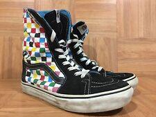 VTG🔥 VANS Super SK8-Hi Sky XX High Sz 7 Multi-colored Checkerboard Tall Boots