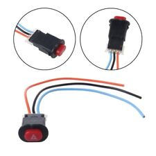Motorcycle Hazard Light Switch Double Warn Flash Emergency Signal w/3 Wires Lock
