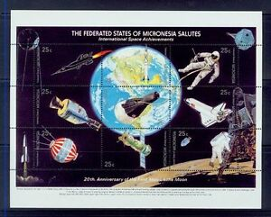 micronesia / 20th anniv. of the first men on the moon s/s/MNH.good codition.