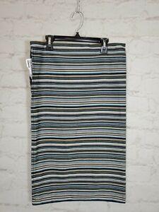 """Ikea Strandkal Cushion Pillow Cover 15""""x26"""" Stripes Blue Multi Color FAST SHIP"""